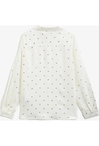 Koton Klasik Yaka Baskılı Uzun Kollu Gömlek