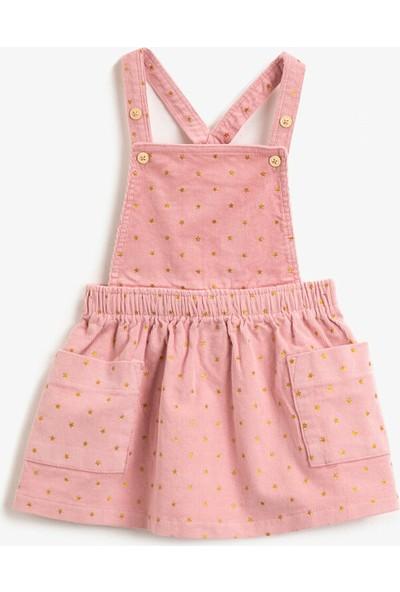 Koton Cepli Yıldız Simli Baskılı Elbise