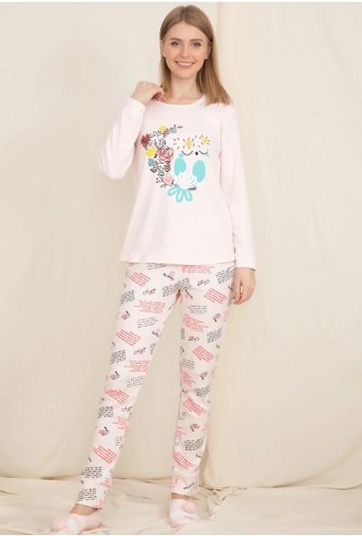 Wesha Bandajlı Baskılı Pijama Takımı