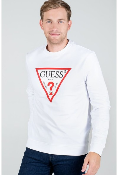 Guess M0YQ37.K7ON0.TWHT Erkek Sweatshirt