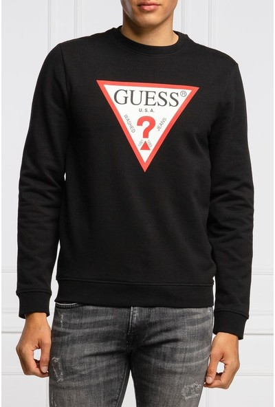 Guess M0BQ37.K7ON1.JBLK Erkek Sweatshirt