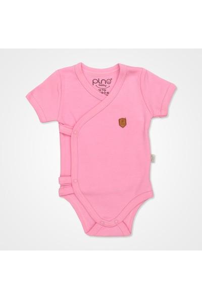 Pino Baby Kısa Kollu Çıtçıtlı Body Bebek Zıbın Seti 2'li - Pembe