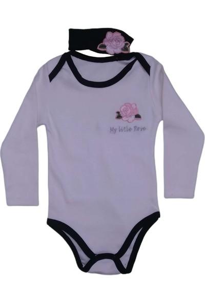 My Little Rose Bandanalı Beyaz Kız Çocuğu Bady -T-Shirt