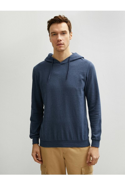 Koton Erkek Kapüsonlu Pamuklu Uzun Kollu Basic Sweatshirt