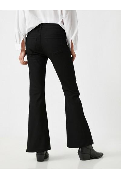 Koton Yüksek Bel Victoria Jean - Ispanyol Paça Pantolon