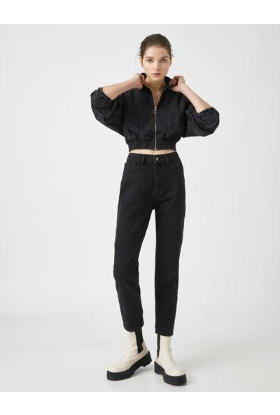 Koton Eve Slim Jean - Yüksek Bel Normal Kesim Hafif Düz Paça Pantolon