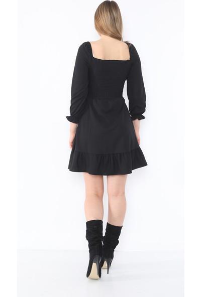 Alfa Abiye Kadın Mini Fırfırlı Elbise 918