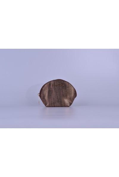 Bronz Taş Görünümlü Kadın Cüzdan