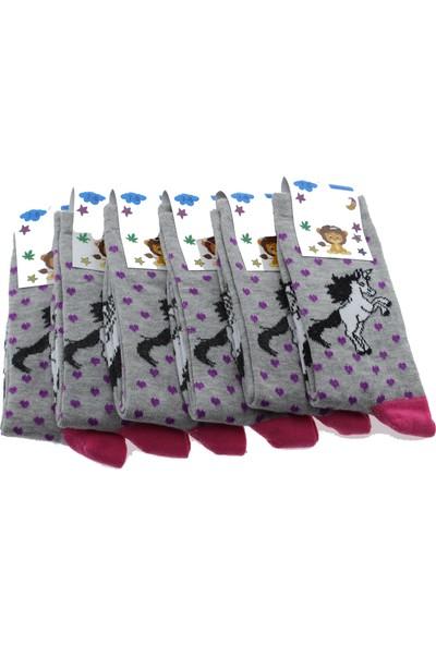 Arm 6'lı 7-8 Yaş Unicorn Desenli Kız Çocuk Çorabı