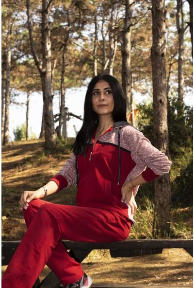 Kozalüks Bayan Kapüşonlu Eşofman Takım