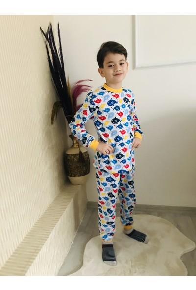 Seçkin Baby Balık Desenli Çocuk Pijama Takım %100 Pamuk