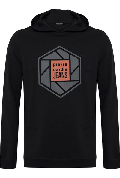 Pierre Cardin Siyah Standart Fit Kapüşonlu Sweatshirt 50235441-VR046
