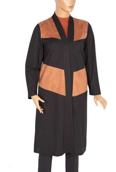 Shine, Alya Süet Kombinli Siyah Ceket