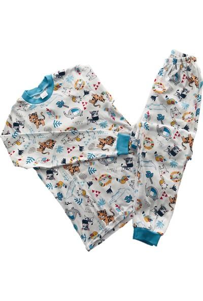 Seçkin Baby Zürafalı Hayvanlar Alemi Çocuk Pijama Takım Pamuk