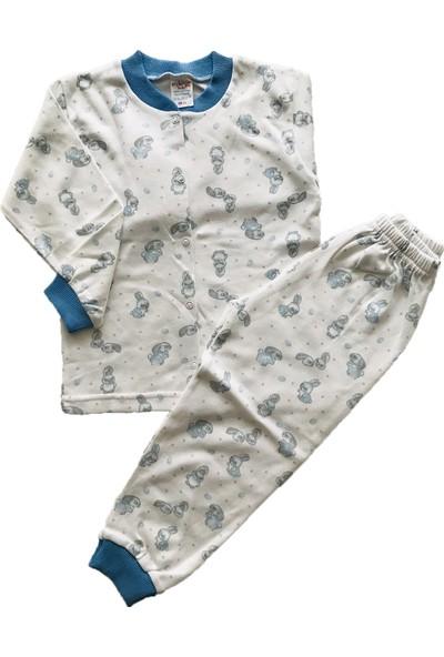 Seçkin Baby Tavşanlı Önden Düğmeli Çocuk Pijama Takım Pamuk
