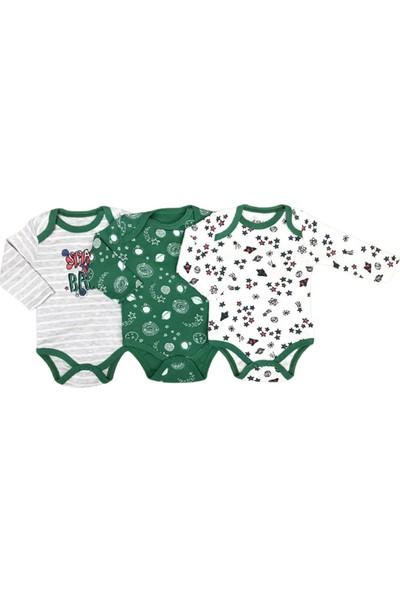 Bexkids Bebek Yeşil Çıtçıtlı 3'lü Zıbın Set