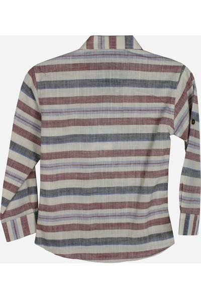 Tomurcuk Çizgili Erkek Çocuk Gömlek