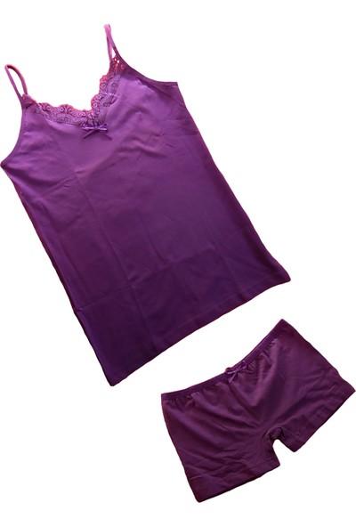 Jel Love Kadın Şortlu Külot Atlet Takım - Bayan Iç Çamaşırı Takımları-1-M