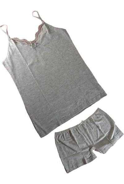 Jel Love Kadın Şortlu Külot Atlet Takım - Bayan Iç Çamaşırı Takımları-6-Xl