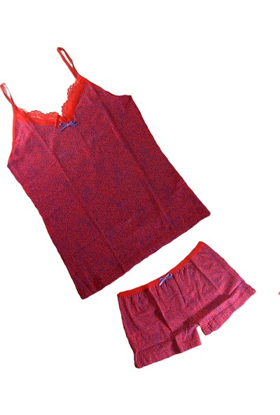 Jel Love Kadın Şortlu Külot Atlet Takım - Bayan Iç Çamaşırı Takımları-7-Xl