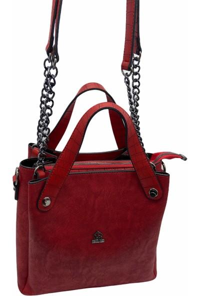 Victoria Polo Roxy Kadın Kırmızı El Çantası 0224