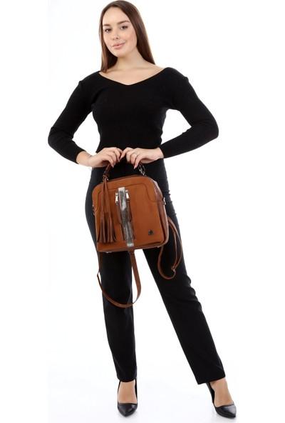 Victoria Polo Roxy Kadın Taba Sırt El Çapraz Çanta 0080