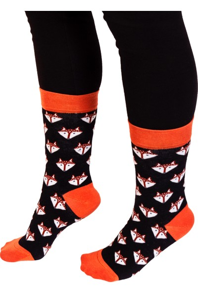 Davetta 6'lı Dikişsiz Renkli Desenli Pamuk Penye Çorap