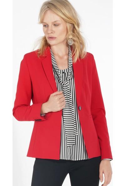 Ekol Kadın Kırmızı Ceket 19K.EKL.CKT.05001.1