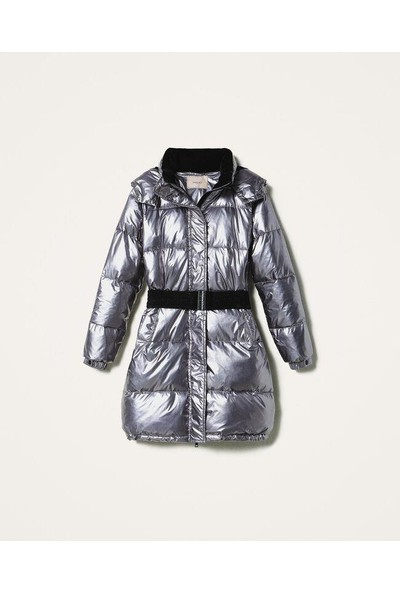 Twin Set-Kadın-Woven Padded Jacket-202Tt2090