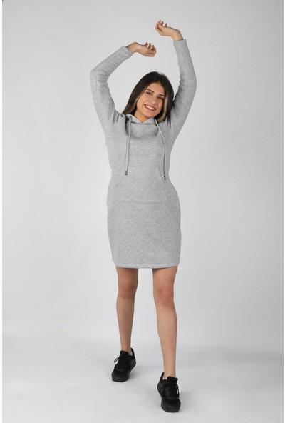 Balins Kadın 3 İplik Elbise Gri