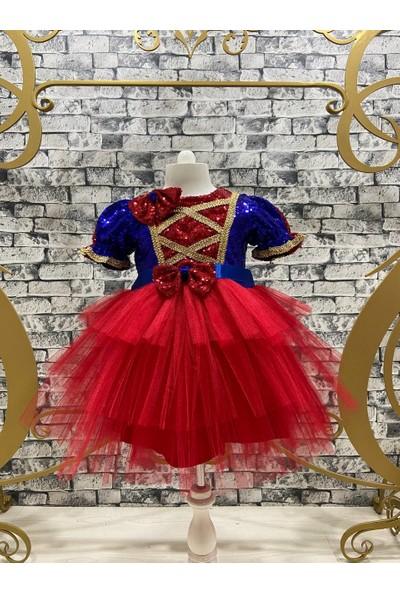 Pumpido Pamuk Prenses Tütü Pul Payet Işlemeli Parti Elbisesi