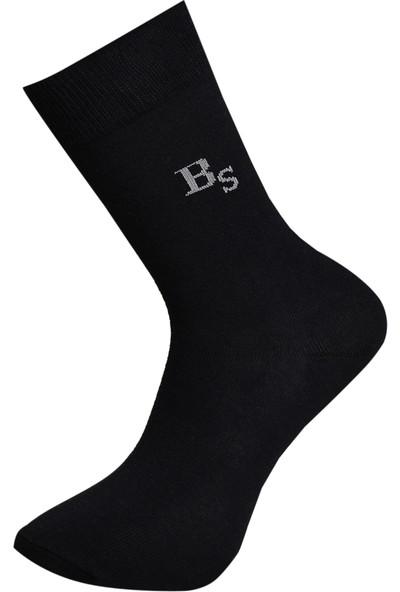 Brave Socks 3'lü Pamuklu Lacivert Düz Erkek Çorap