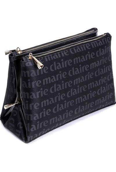 Marie Claire Siyah Kadın Makyaj Çantası Monica MC212111237