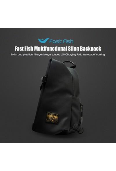 Youpin Hızlı Balık Sling Çanta Göğüs Omuz Sırt Çantası
