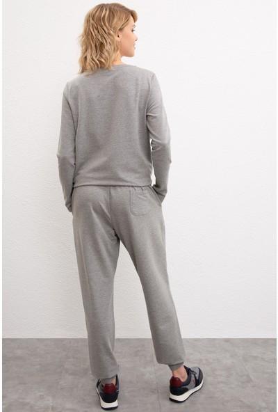 U.S. Polo Assn. Gri Örme Pantolon 50232120-Vr086