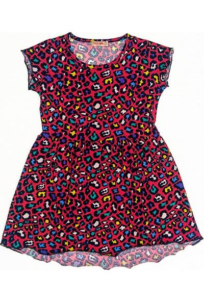 Paty Kids Kısa Kol Renkli Elbise