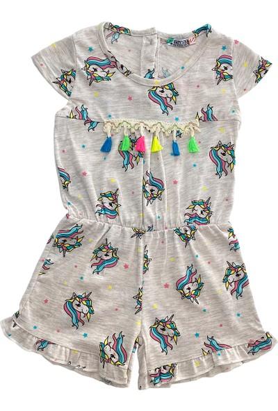 Paty Kids Kısa Kol Saçaklı Elbise
