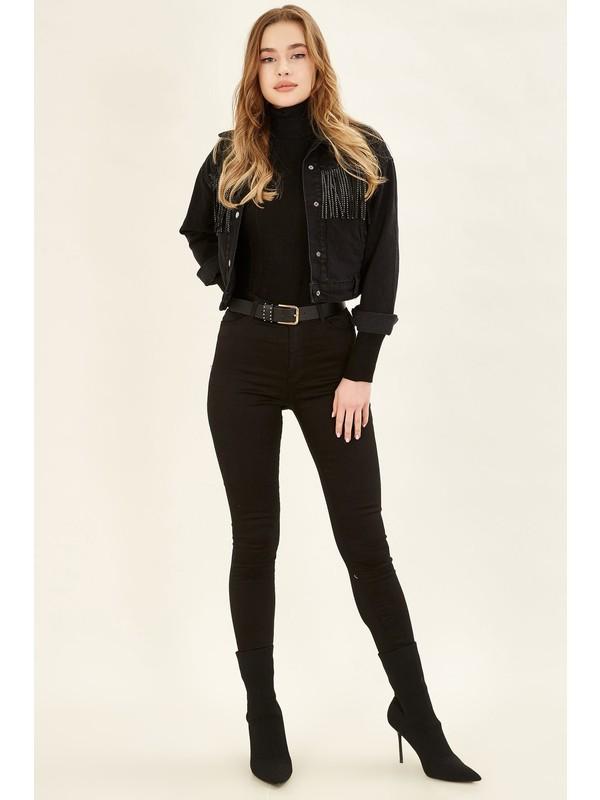 Armalife Yüksek Bel Likralı Pantolon - Siyah