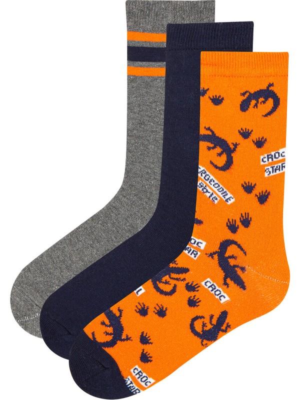 Penti Çok Renkli Erkek Çocuk Croc Star 3lü Soket Çorap
