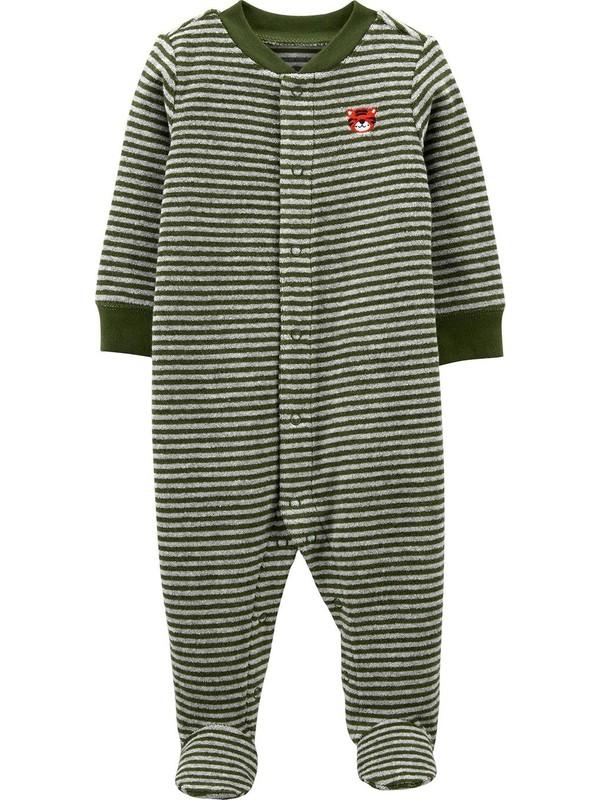 Carter's Havlu Bebek Tulumu 1J949010 Yeşil Yenidoğan