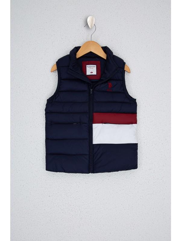 U.S. Polo Assn. Erkek Çocuk Lacivert Dokuma Yelek 50224494-VR033
