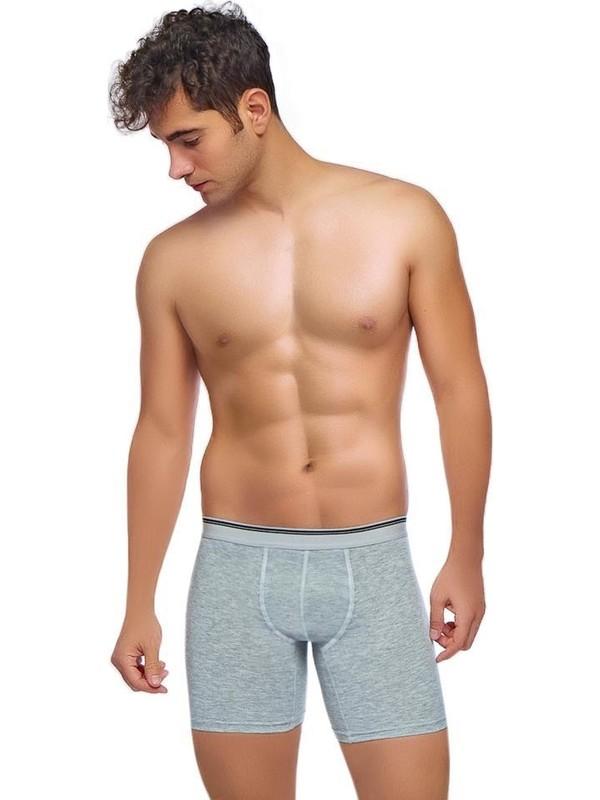 Donkshot 3 Adet Uzun Likralı Erkek Boxer 1004