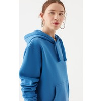 Mavi Kadın Kapüşonlu Mavi Sweatshirt 167299-32333
