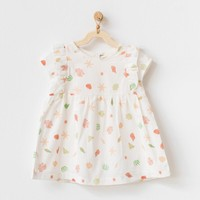 Andywawa Organik Pamuk Kız Bebek Ekru Elbise Dress Starfısh And Frıends