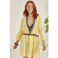 C&city Kadın Pareo Plaj Elbisesi 21920 Sarı