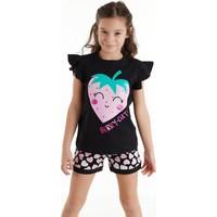 Denokids Berry Cute Kız Şort Takım