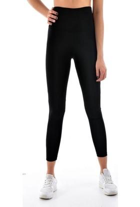 Megfit Kadın 5909 Siyah Yoga Pilates Fitness Spor Yüksek Bel Tayt