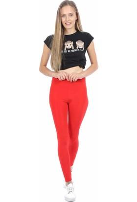 Allbaram Kırmızı Parlak Disco Tayt