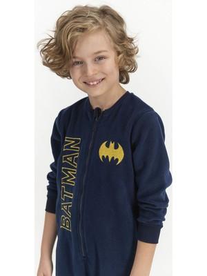 Batman Lacivert Erkek Çocuk Tulum