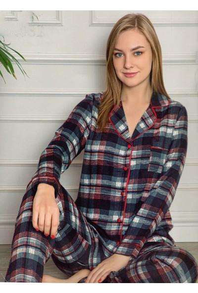Aydoğan Kadın Poplin Siyah Gömlek Pijama Takımı
